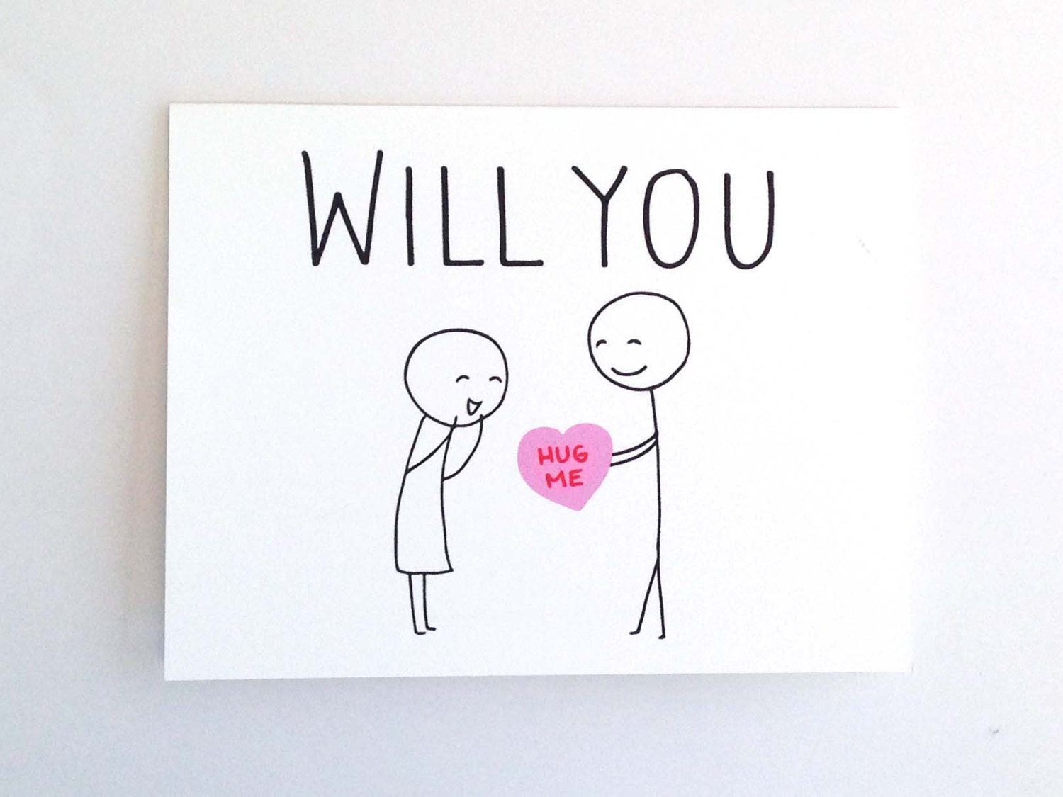 Will You Hug Me Funny Valentine Card For on Best Anniversary Ts Parents