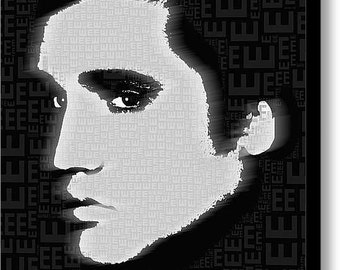 Elvis Presley on Stretched Canvas