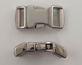 """5 1/2"""" Metal side release buckles for paracord bracelet ~ brand new curved style ~ Silver in color ~ top of the line buckle clip"""