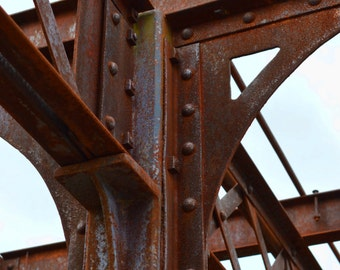 Rusted Structure Set of 4 Fine Art Prints