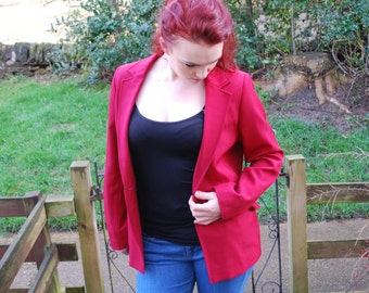 Deep Red Tailored Jacket