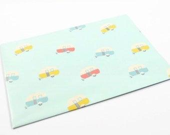 CARAVAN WRAPPING PAPER - Vintage Air Stream Caravan Folded Wrapping Paper (49cm x 68cm)