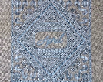 Birthstone Series: Diamond PDF Chart by Northern Expressions Needlework