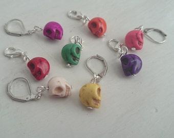 Skull stitch markers (set of 4)