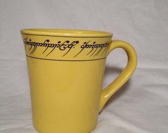 Elvish Tengwar LOTR inspired Ring Lord Mug, Just Elvish from the precious nothing more .