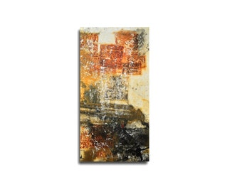 xxl modern wallart abstract korrossion rusty autumn colors Pigmente on  Canvas Original Painting - free shiping EU/USA