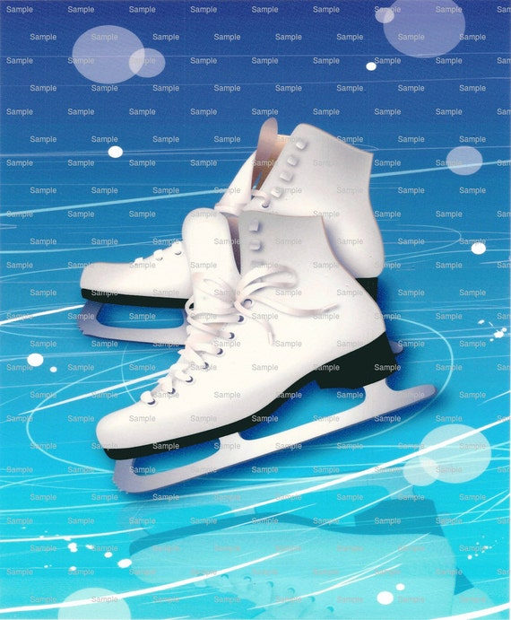 Ice Skating Birthday - Edible Cake and Cupcake Topper For Birthday's and Parties! - D805