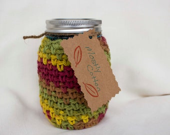 Mason Jar Cozy, Crocheted Coffee Cozy, Fall Decor, Gifts Under 20.00, Gifts For Best Friend, Gifts For Mom, Gifts For Dad,