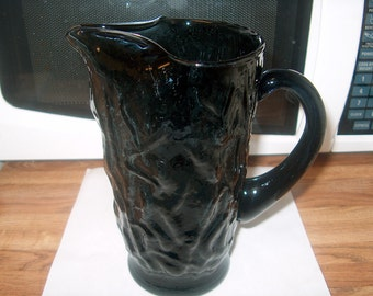 Vintage Gray Glass Pitcher, WAS 25.00 - 50% = 12.50
