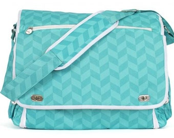 Teal Tote for Silhouette Portrait