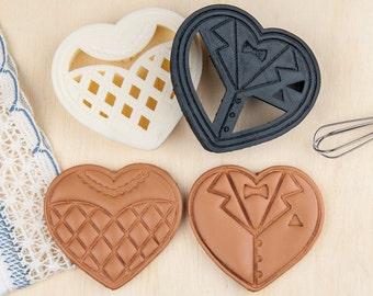 Wedding Cookie Cutter DIY Heart Shaped Cookies Favors