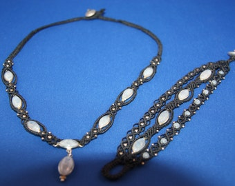 Nice set with moonstone and 925 sterling silver