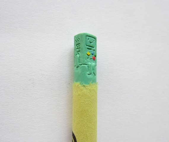 BMO Adventure Time carved crayon