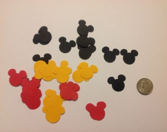 100 Mickey Mouse punches 33 black, 33 yellow, and 33 red