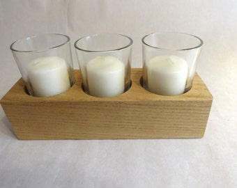 Sassafras votive candle holder