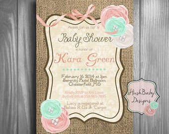 long distance baby or bridal shower by creativecactusshop on etsy, Baby shower invitations