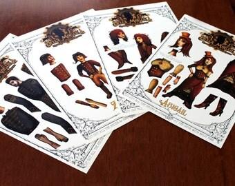 Della Mortika: Paper Doll Set