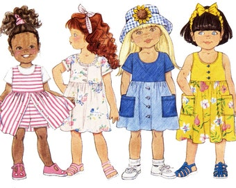 Butterick Sewing Pattern 4460 Girls' Dress  Size:  5-6-6X  Used