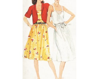 Simplicity Sewing Pattern 9909 Misses' Pullover Sundress and Unlined Bolero Jacket   Size 10  Uncut
