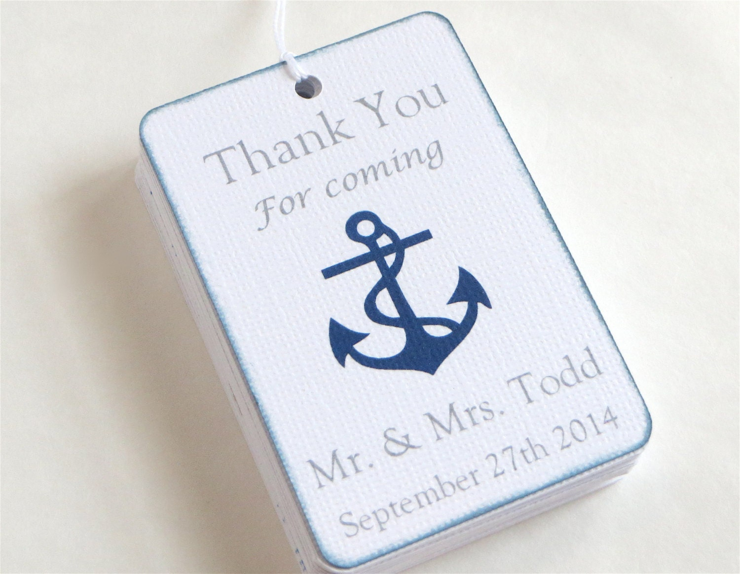 Nautical Wedding Gift Tags : Custom Nautical Wedding favor tags Custom wedding thank you