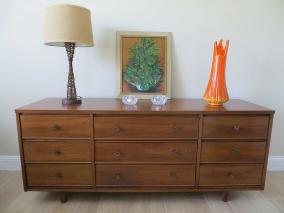 Reserved Mid Century Modern Dixie Furniture Nine Drawer