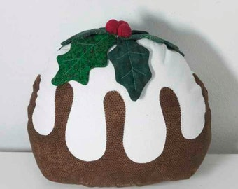 Christmas Pudding Doorstop PDF Instant Download Pattern