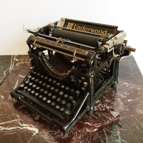 Antique 1914 underwood n 5 travail de bureau machine - Machine a ecrire underwood ...