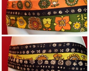 Vintage Hippie Belt, cloth and reversible