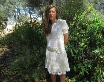 Gunne Sax Vintage Dress by Jessica McClintock Size 8 - FREE SHIPPING!