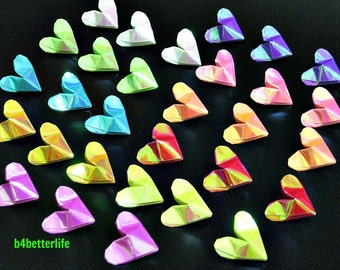 "250pcs 3D Origami Hearts ""LOVE"" . (AV Paper Series)."