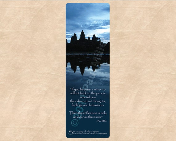 Becoming A Mirror Bookmark Inspirational Quotes