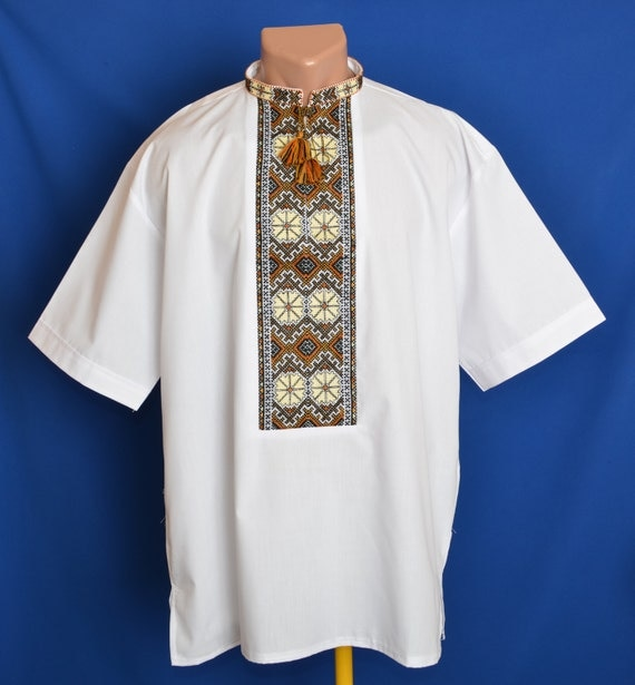 Ukrainian hand embroidered men s shirt by storeofembroidery