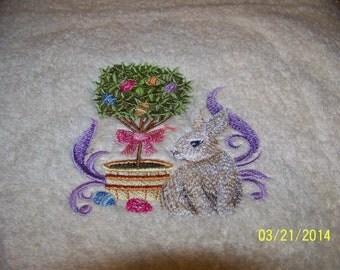Easter Topiary - Finger-tip Towel