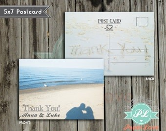 Customizable Photo Thank you Wedding Postcard (DIGITAL FILE)
