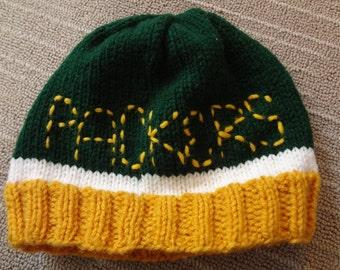Knit Green Bay Packer Hat