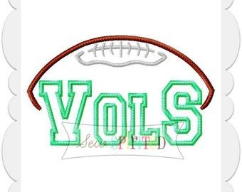 Vols Football Applique Embroidery Design