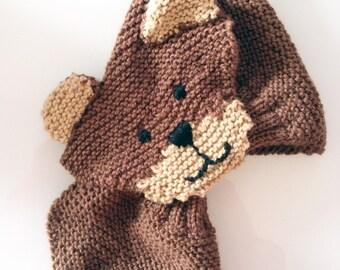scarf  bear handmade