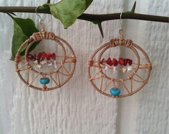 Bohemian Wrapped Stone Earrings