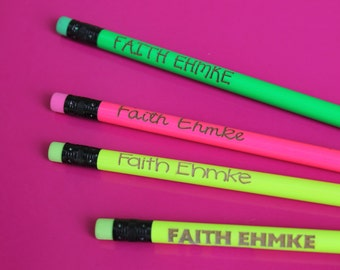 Personalized Pencils - custom Pencils, Pencil with name, Engraved Pencils, Personalized Pencils Kids, Cute girly pencils Set of 8 --6018