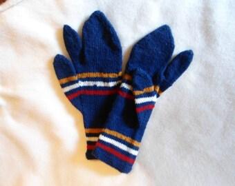 Wool Hand-knit Trigger Finger Mittens for Civil War Reenactors
