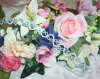 blue lace garter, lace garter, wedding garter, bridal lace garter, prom garter, wedding lace garter, keepsake garter, heirloom garter