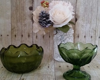 Gorgeous Green Glassware