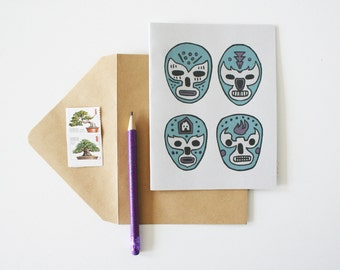 Luchador Card- Blank