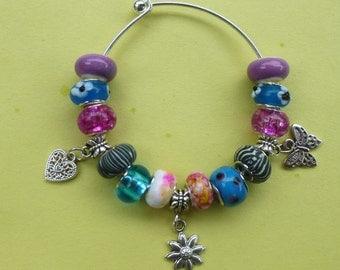 Clearance ~ Happy European Pand*ra Style Daisy Charm Bracelet