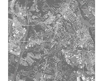 Fredericksburg VA Cityscape Art / Virginia Map Print City Wall Art / 8x10 Poster / Choose your color