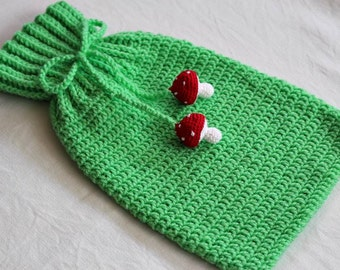 Free Crochet Pattern For Hot Water Bottle Cover : Custom Crocheted Hot Water Bottle Cover