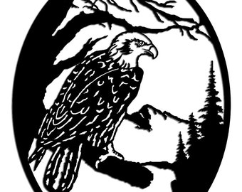 Observation Eagle Wall Art - Metal Art - Home Decor -  Make GREAT gifts!