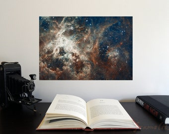 """Turbulent Star-making Region 19"""" x 13"""" Poster - Science Astronomy Wall Art - Window on the Universe series"""