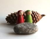 Wooden People - Somi & Verdil Hoodie Kid Pegs