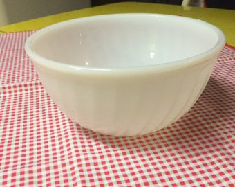 Vintage Fireking Milk Glass Bowl